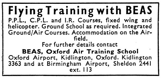 British Executive Air Services BEAS Flying Training