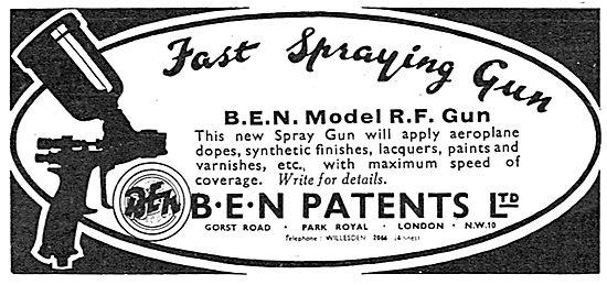 B.E.N.Patents Portable Paint Spraying Machine. RF Gun