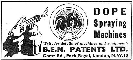 B.E.N.Patents Portable Dope Spraying Machine