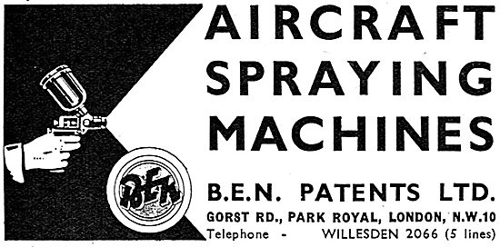 B.E.N.Patents Aircraft Paint Spraying Machines