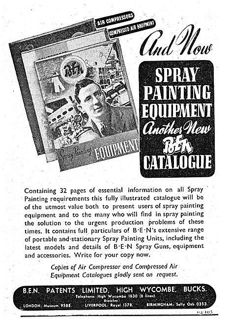 B.E.N.Patents Portable Paint Spraying Machines