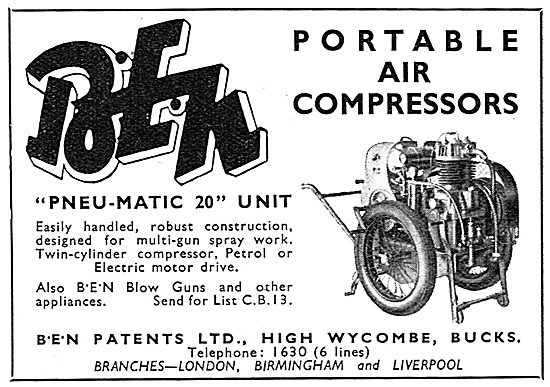 B.E.N.Patents Portable Air Compressors