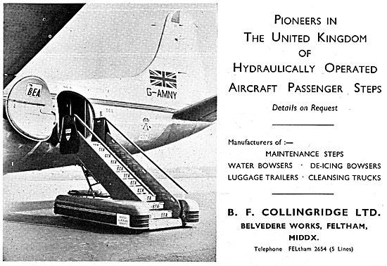 B.F.Collingridge Hydraulically Operated Aircraft Passenger Steps