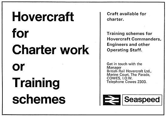 BHC - British Hovercraft Corporation Training Schemes