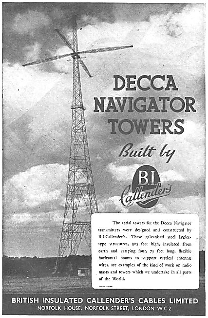 Decca Navigator Transmitter Towers Designed & Built By BICC