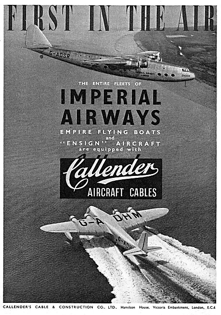 Callender's Electrical Cables For Aircraft