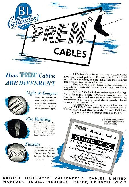 B.I.Callenders Aircraft Cables PREN Cables