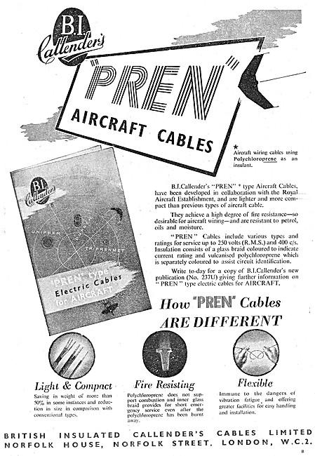 B.I.Callenders Aircraft Cables PREN Aircraft Cables