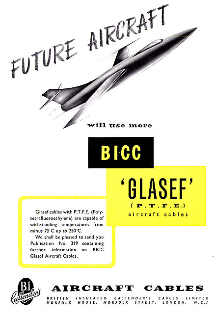 BICC Aircraft Cables - BICC GLASEF P.T.F.E.