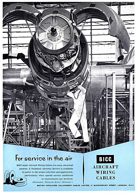 BICC Aircraft Wiring Cables