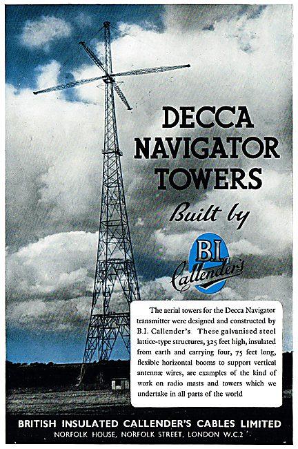 Decca Navigator Towers Built By B.I.Callender. BICC