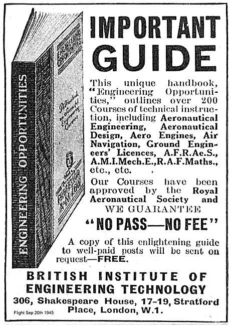 British Institue Of Engineering Technology Aero Engineering Guide