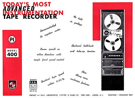 B & K Laboratories Instrumentation Tape Recorders