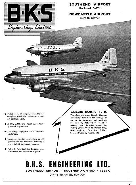 B.K.S. Engineering Ltd Southend & Newcastle. BKS Air Transport