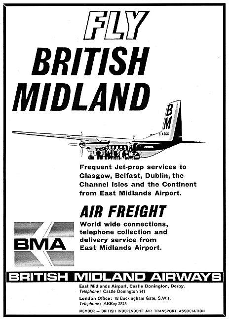British Midland Airways BMA 1965