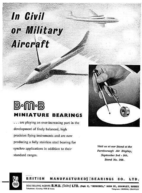 BMB Miniature Bearings For Flight Instruments