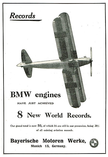 BMW Aero Engines Have Achieved 8 New World Records