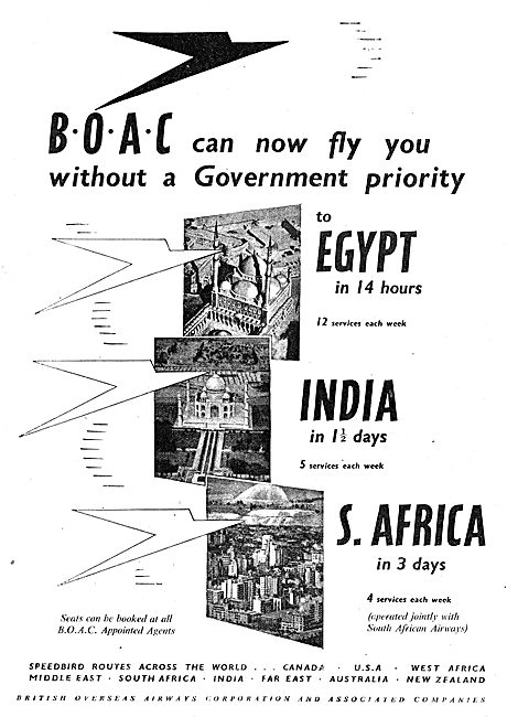 British Overseas Airways Corporation BOAC