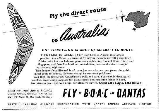 British Overseas Airways Corporation BOAC - QANTAS