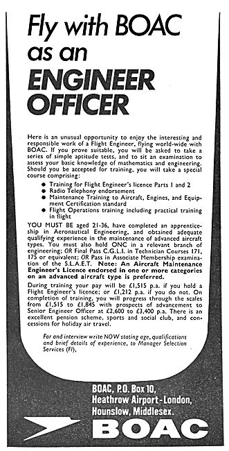 British Overseas Airways Corporation BOAC - Engineer Officers