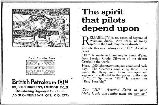 British Petroleum BP - The Spirit That Pilots depend On.