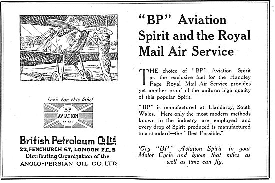 British Petroleum BP Spirit - And The Royal Mail Air Service