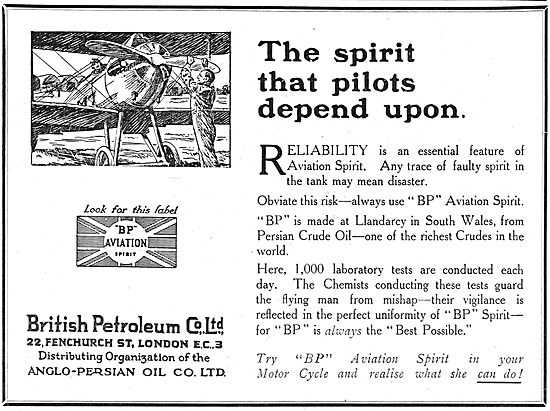 British Petroleum BP - The Spirit That Pilots Depend Upon