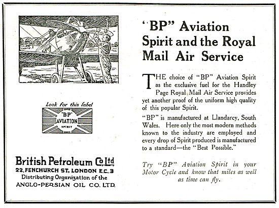 BP Aviation Spirit & The Royal Mail Air Service