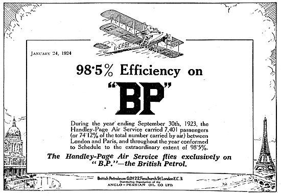 Castrol Aero Engine Oil - Handfley Page Air Service