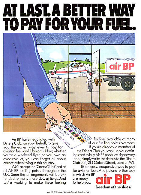 British Petroleum BP - Aviation Fuels & Lubricants. Diners
