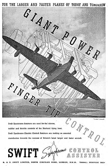 B & P.Swift Ltd. Aero Engineers - Synchromo Control Assisters