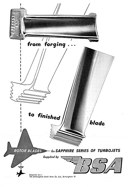 BSA  Aeronautical Engineering. Rotor Blades For Gas Turbines