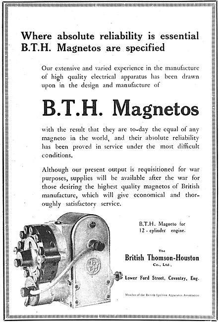 BTH Magnetos 1918