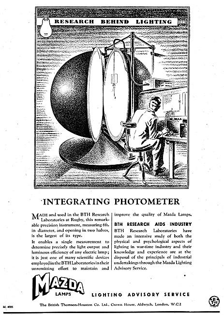 BTH Integrating Photometer Mazda Lamps
