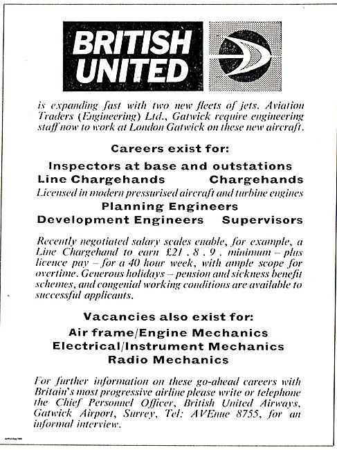 British United Airways - Recruitment 1965