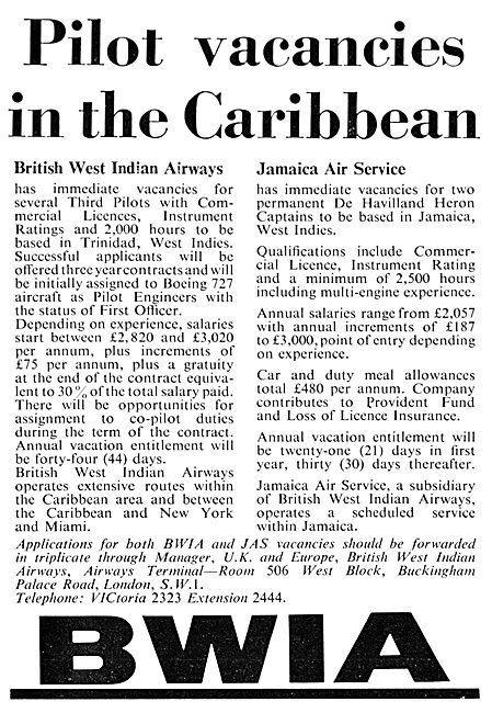 BWIA - British West Indian Airways