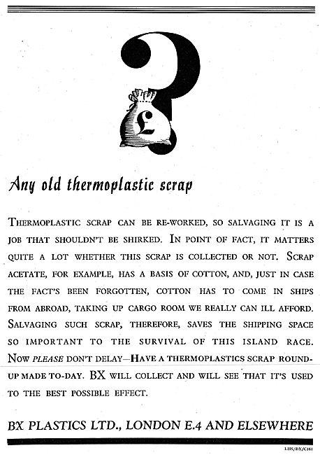 BX Plastics. Thermoplastic Scrap