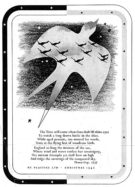 BX Plastics Components For Aircraft 1943 Advert