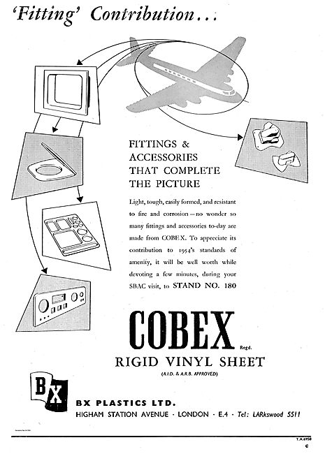 BX Plastics Cobex Rigid Vinyl Sheet for Aircraft Cabin Fittings