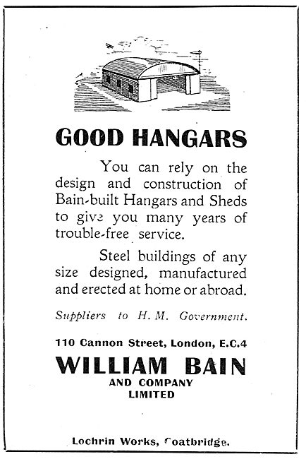 William Bain & Co - Aircraft Hangars & Sheds