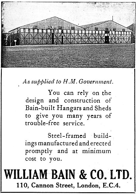 William Bain & Co - Aircraft Hangars & Sheds