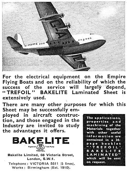 Bakelite Components For Aircraft - Bakelite Trefoil Laminates