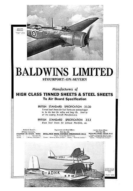 Baldwins Steel Sheets For Aircraft Sheet Metal Work