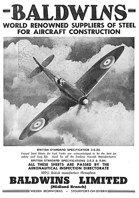Baldwins Metals For Aircraft  - Wilden Ironworks