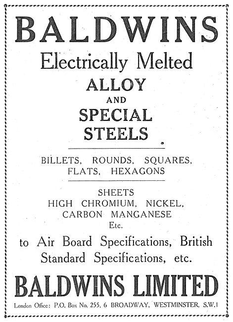 Baldwins Metals For Aircraft