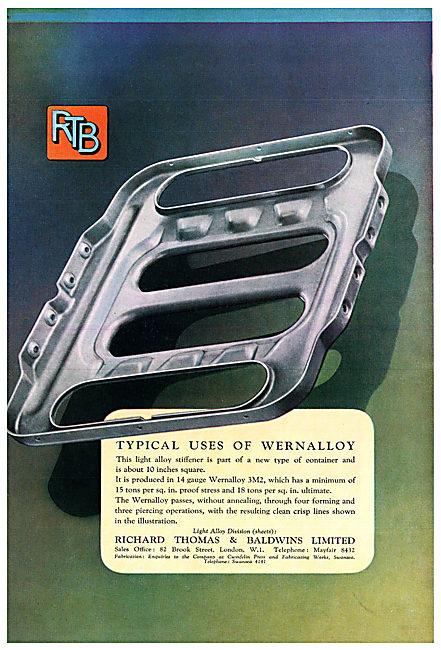 Richard Thomas & Baldwins : RTB WERNALLOY 3M2  Light Alloy.