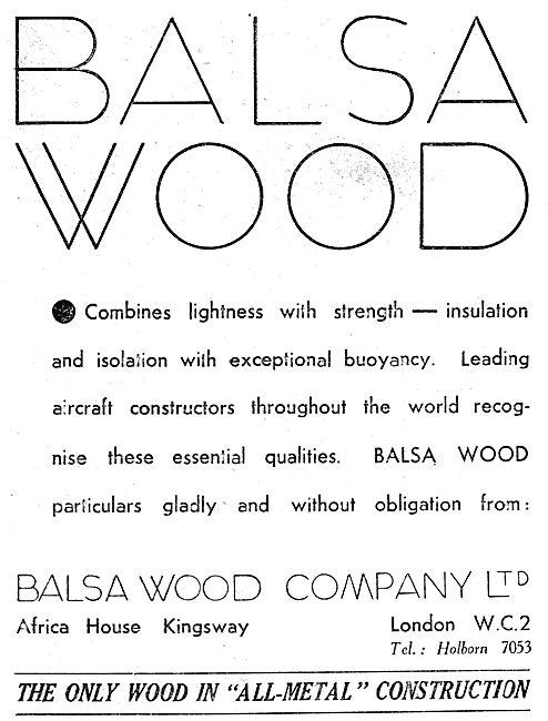 Balsa Wood Company. Africa House