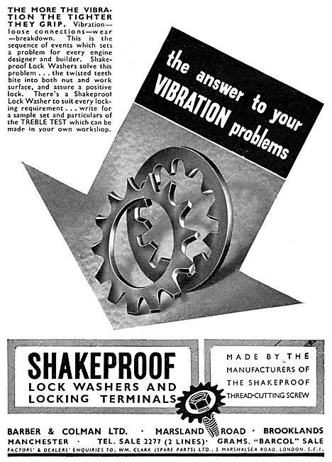 Barber & Colman Shakeproof Lock Washers