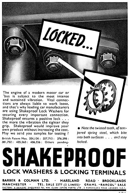 Barber & Colman Shakeproof Washers
