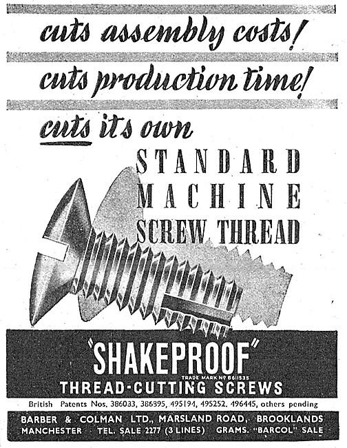 Barber & Colman Thread-Cutting Screws